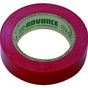 10 rubans isolant électrique Advance AT7 15 mm x 10 m rouge